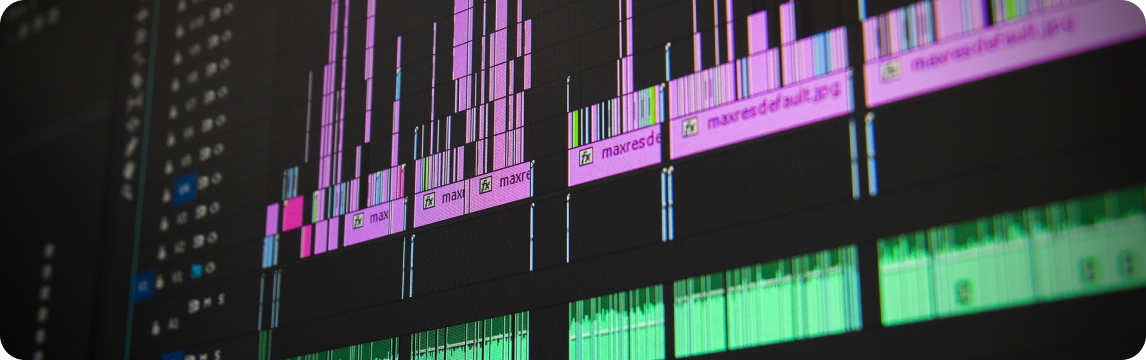 Detalhe Linha de Edição de Vídeo